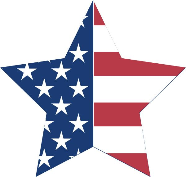 American flag start clipart jpg library download US Star Flag Bunting Decoration - free Patriotic printable - ClipArt ... jpg library download