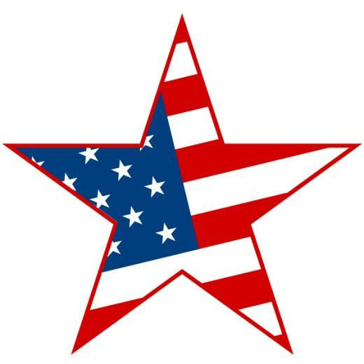 American flag start clipart picture freeuse download 4th of July clipart: stars and stripes | Bunco | 4th of july images ... picture freeuse download