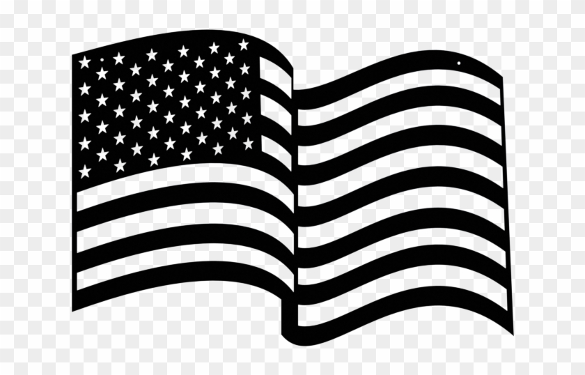 American flag waving black and white clipart picture free Wavy American Flag Metal Sign Small - Transparent American Flag ... picture free