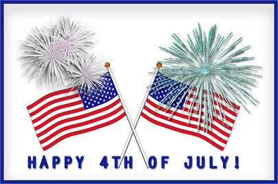 American flag with fireworks clipart png library download Independence Day Clipart - Gifs png library download