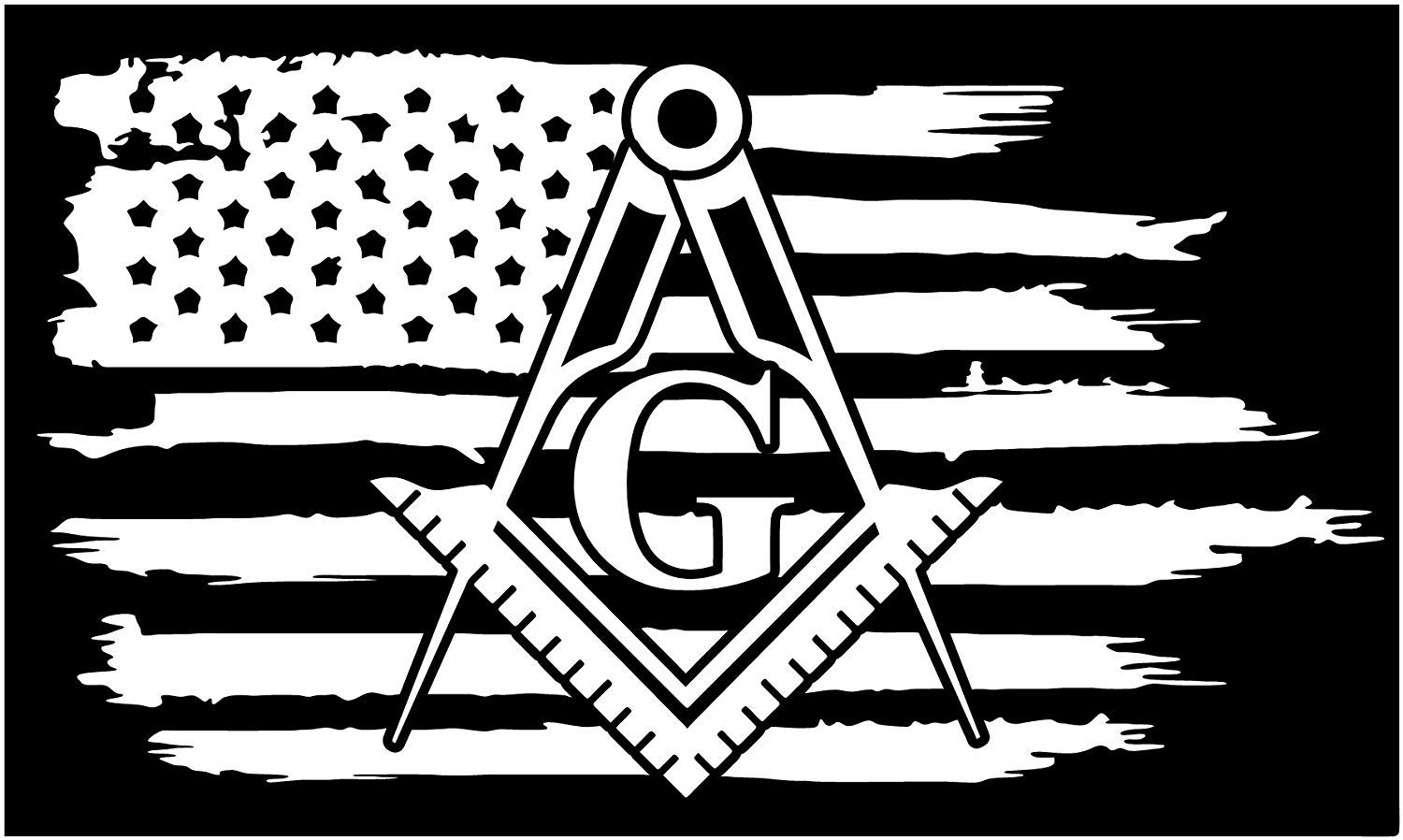 American flag with masonic clipart clip freeuse download Firehouse Graphics American Flag Mason Masonic Freemasons Vinyl die Cut  Sticker Decal Pledge of Allegiance clip freeuse download