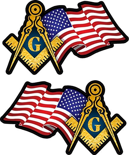 American flag with masonic clipart svg library Amazon.com: ProSticker 021 (One) 1 Pair 3\