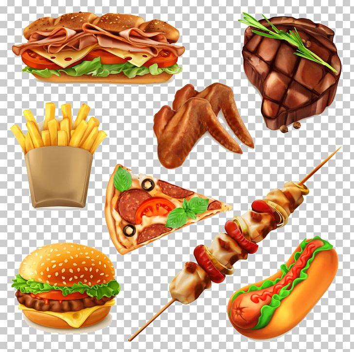 American food clipart svg library Hamburger Fast Food Pizza Drawing PNG, Clipart, American Food ... svg library