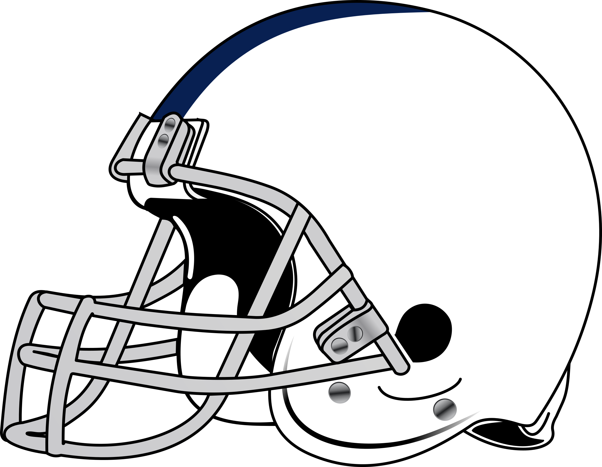 Clipart picture of a football svg black and white download American Football Helmet Icons PNG - Free PNG and Icons Downloads svg black and white download