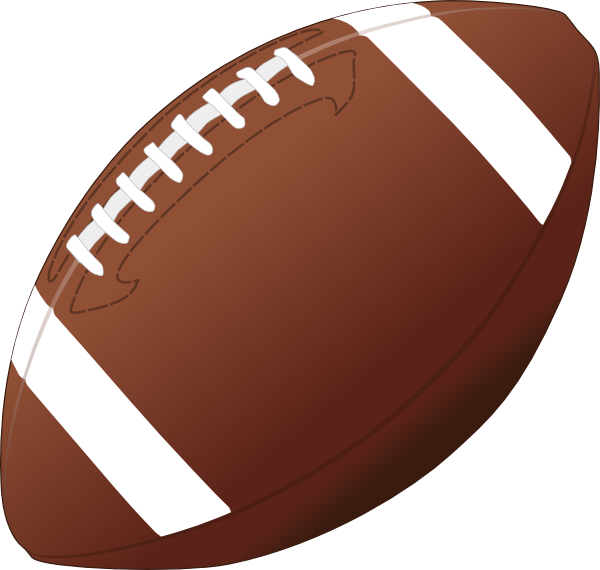 American football ball clipart image black and white stock American Football Clip Art at Clker.com - vector clip art online ... image black and white stock