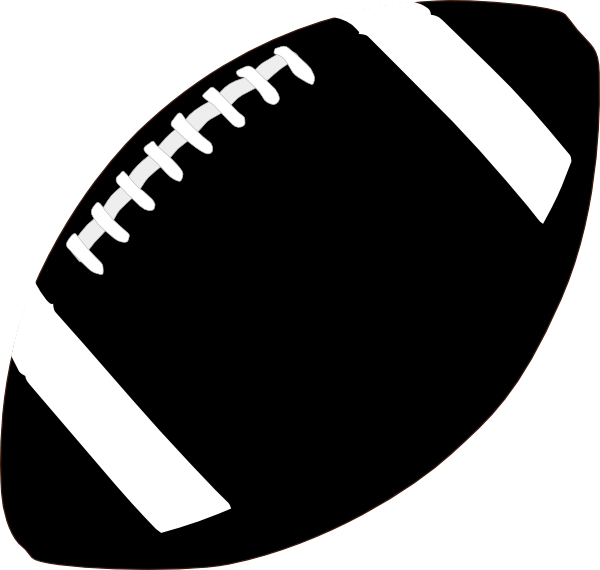 Football shadow clipart black and white American Football Clip Art at Clker.com - vector clip art online ... black and white