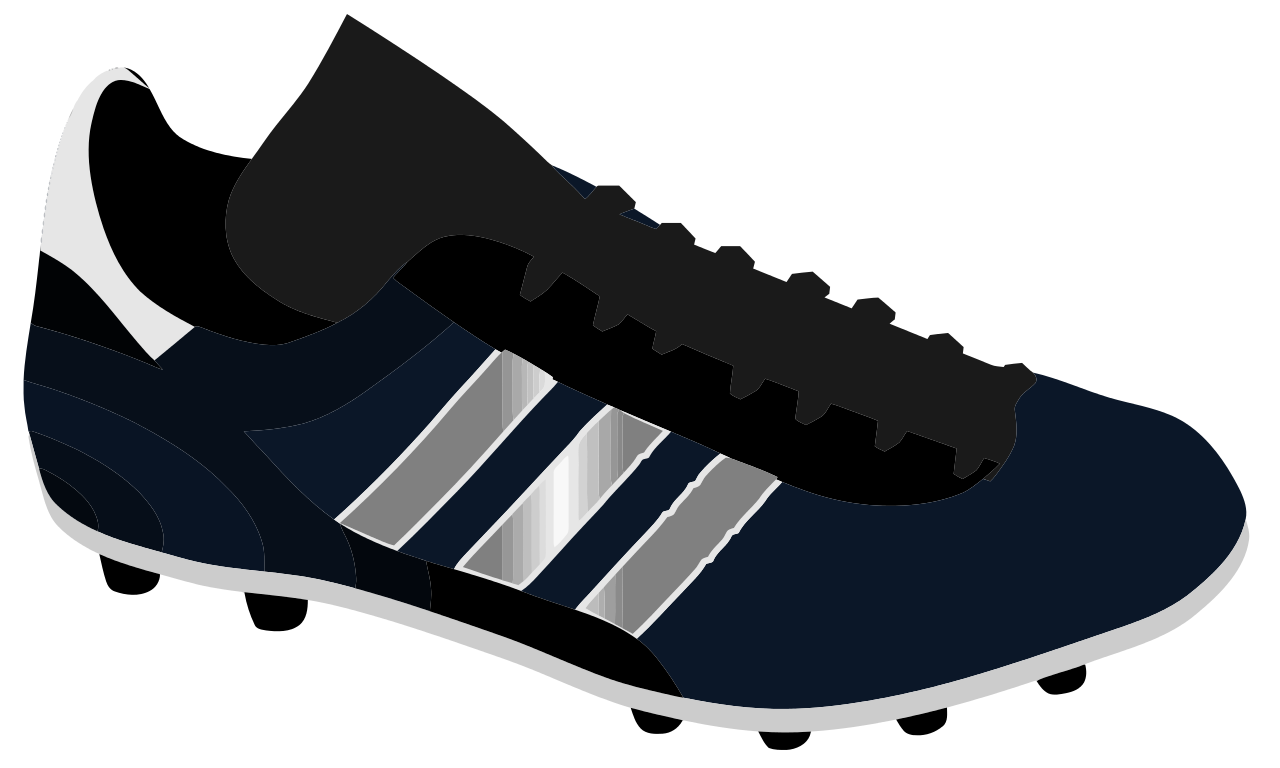 Football cleats clipart clip royalty free File:Football shoe.svg - Wikipedia clip royalty free