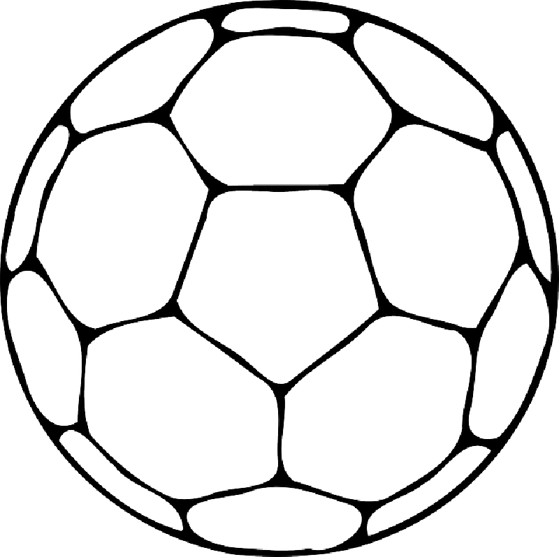 Top outline of cliparts. Football clipart color sheets