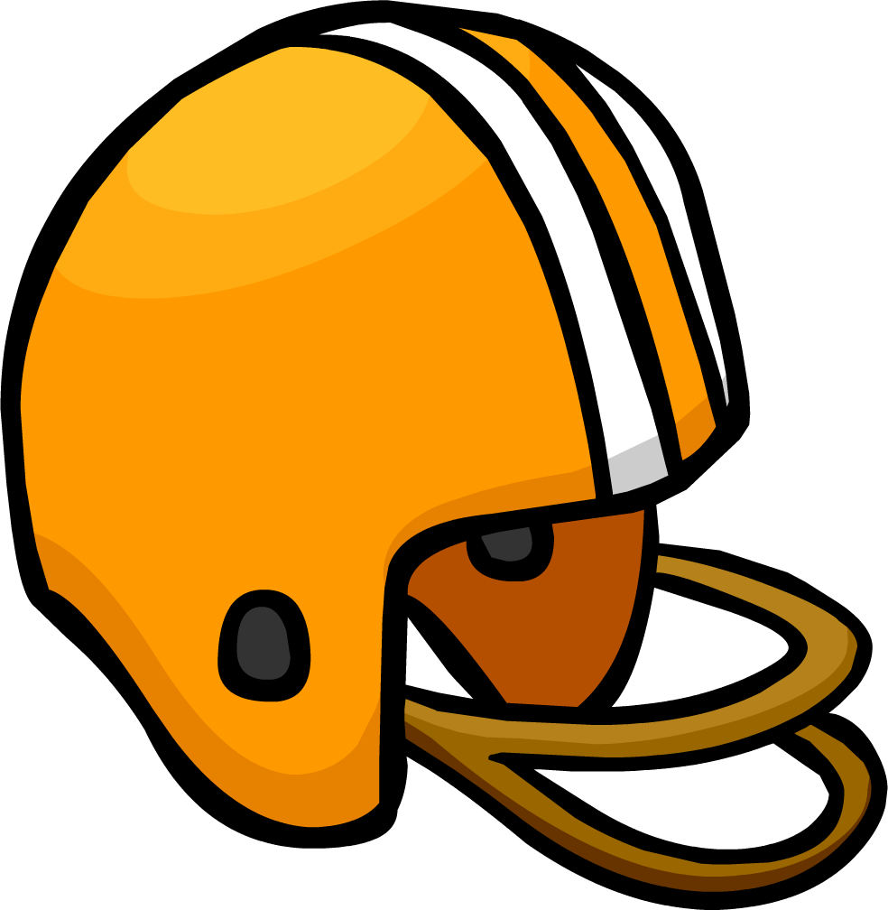 Football fan clipart. Helmet club penguin wiki
