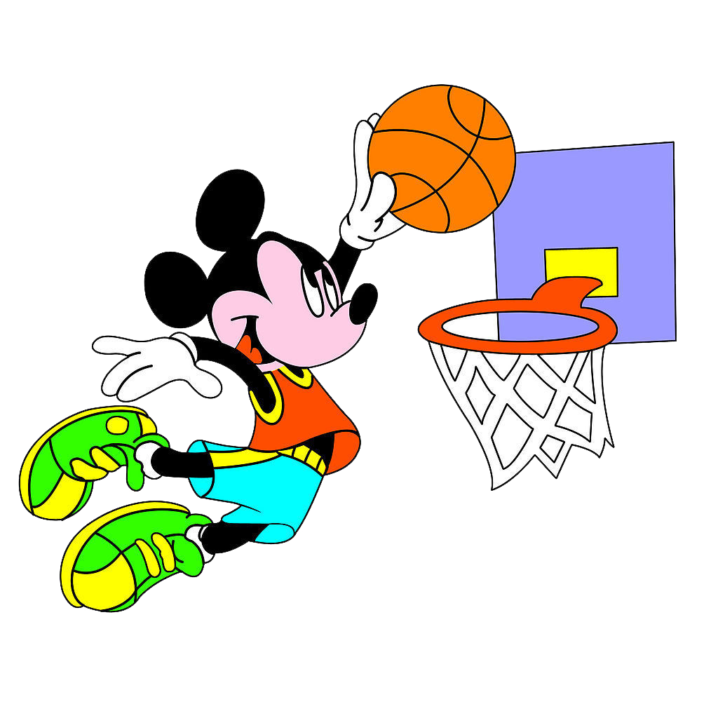 To play basketball clipart graphic royalty free library Mickey Mouse Minnie Mouse Donald Duck Basketball Clip art - Mickey ... graphic royalty free library