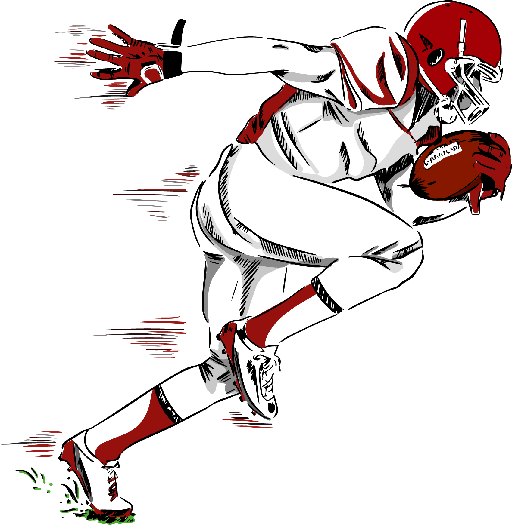 Clipart american football player clip stock NFL American football player Transfer - American football player ... clip stock