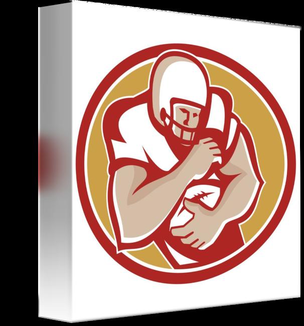 American football receiver art clipart transparent stock American Gridiron Wide Receiver Running by Aloysius Patrimonio transparent stock