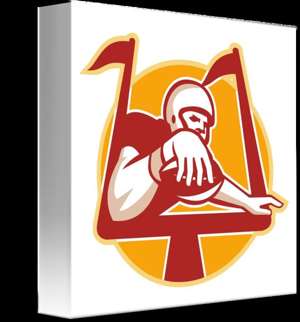 American football receiver art clipart clipart American Football Receiver Scoring Touchdown by Aloysius Patrimonio clipart