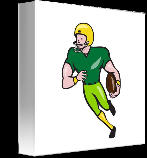 American football receiver art clipart jpg royalty free American Football Receiver Running Isolated Cartoo by Aloysius ... jpg royalty free