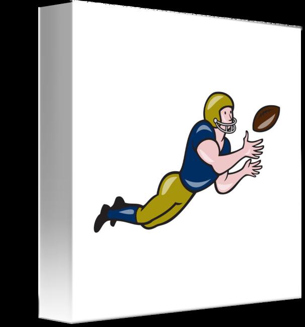 American football receiver art clipart clipart freeuse stock American Football Receiver Catching Ball Cartoon by Aloysius Patrimonio clipart freeuse stock