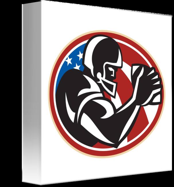 American football receiver art clipart clipart library download American Football Wide Receiver Ball by Aloysius Patrimonio clipart library download