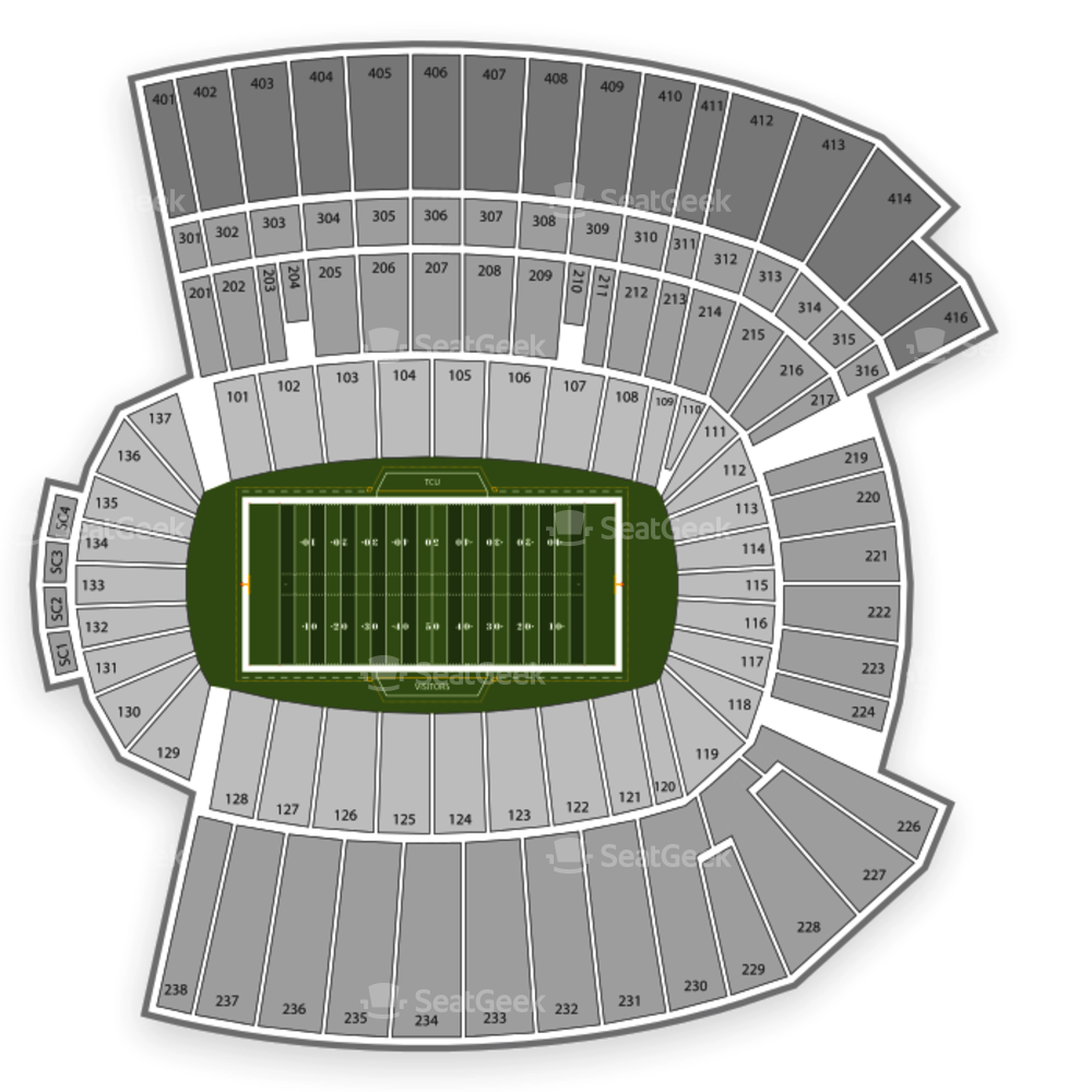 American football stadium clipart svg Amon G. Carter Stadium Seating Chart | SeatGeek svg