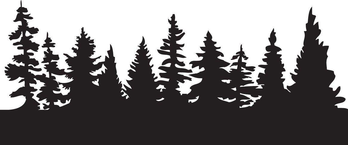Forest trees clipart. Fir tree x cricut