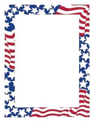 American frame clipart