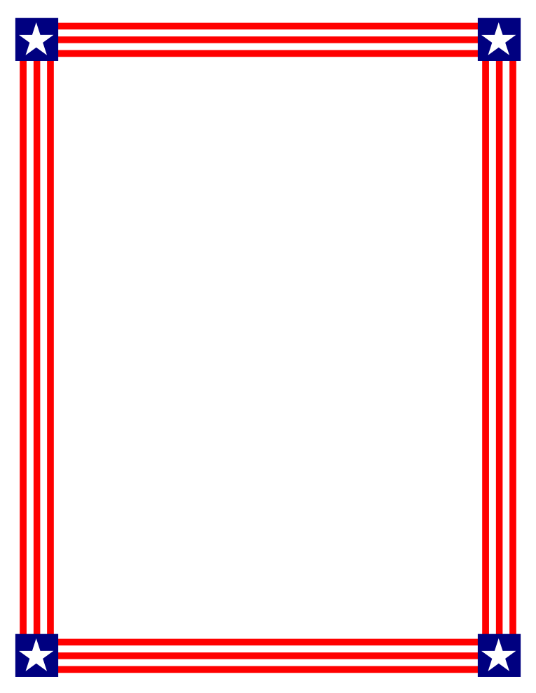 Simple stripe blue border clipart image transparent library Free American Flag Page Border, Download Free Clip Art, Free Clip ... image transparent library