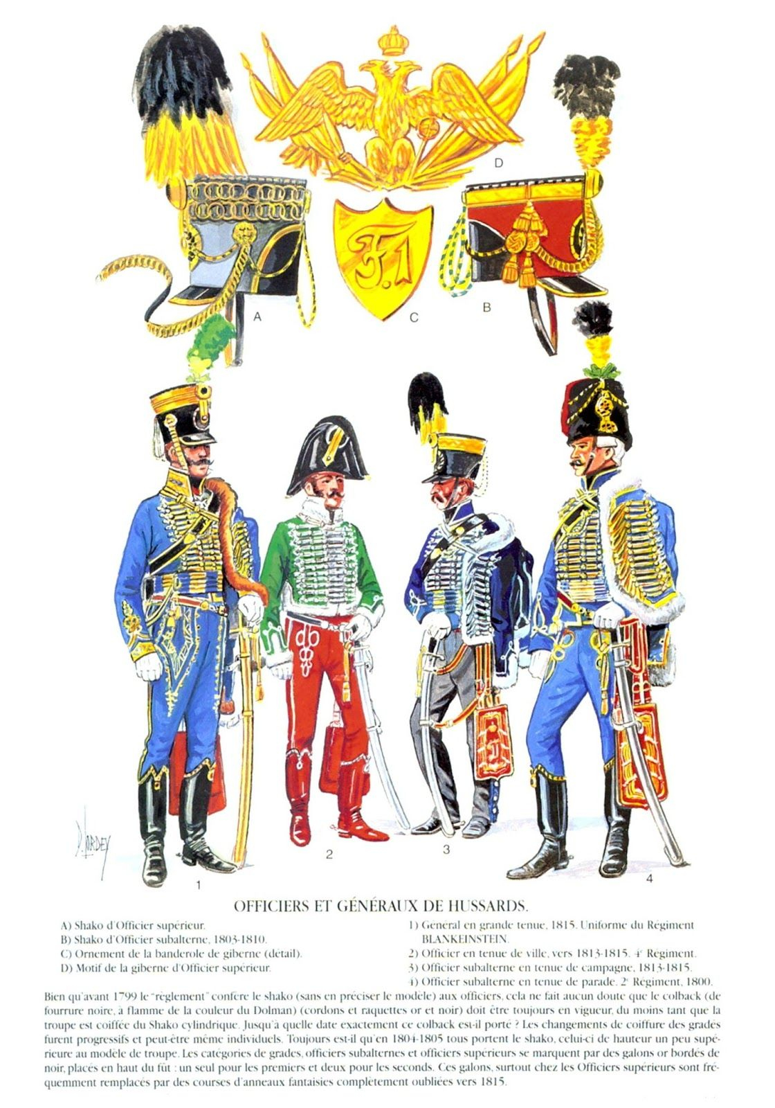 American general 1813 clipart graphic royalty free Austrian Hussar Officers; L to R General in Full Dress, wearing ... graphic royalty free