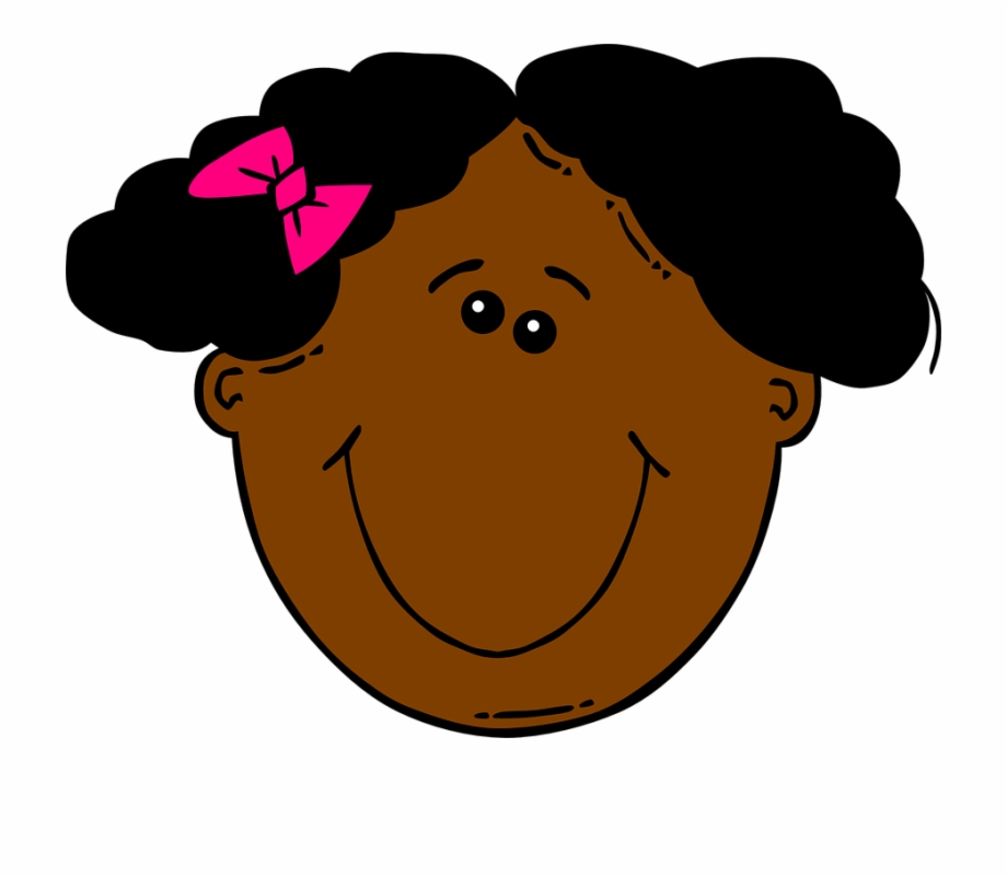 American girl clipart free jpg black and white download Free Vector Graphic - African American Girl Clipart Free PNG Images ... jpg black and white download