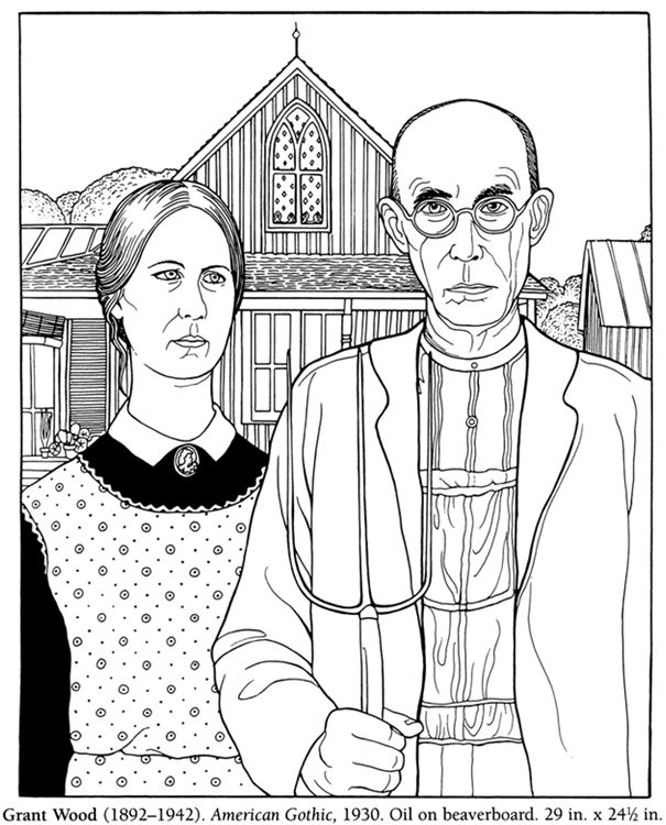 American gothic clipart png freeuse American gothic clipart 4 » Clipart Station png freeuse