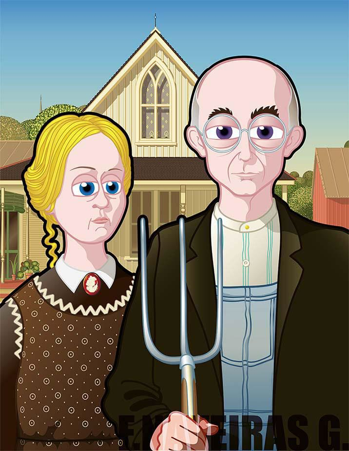American gothic clipart banner royalty free stock American Gothic | American Gothic | American gothic parody, American ... banner royalty free stock