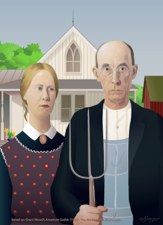 American gothic clipart clip transparent library Professional Quality Graphic Illustrations clip transparent library