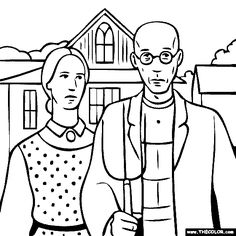 American gothic clipart banner black and white library American gothic clipart 1 » Clipart Station banner black and white library