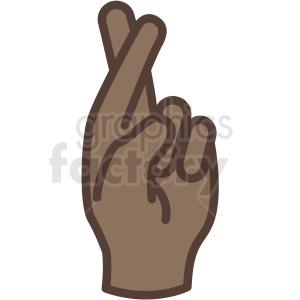American hand clipart clip art free stock african american hand with fingers crossed vector icon . Royalty-free icon  # 406815 clip art free stock