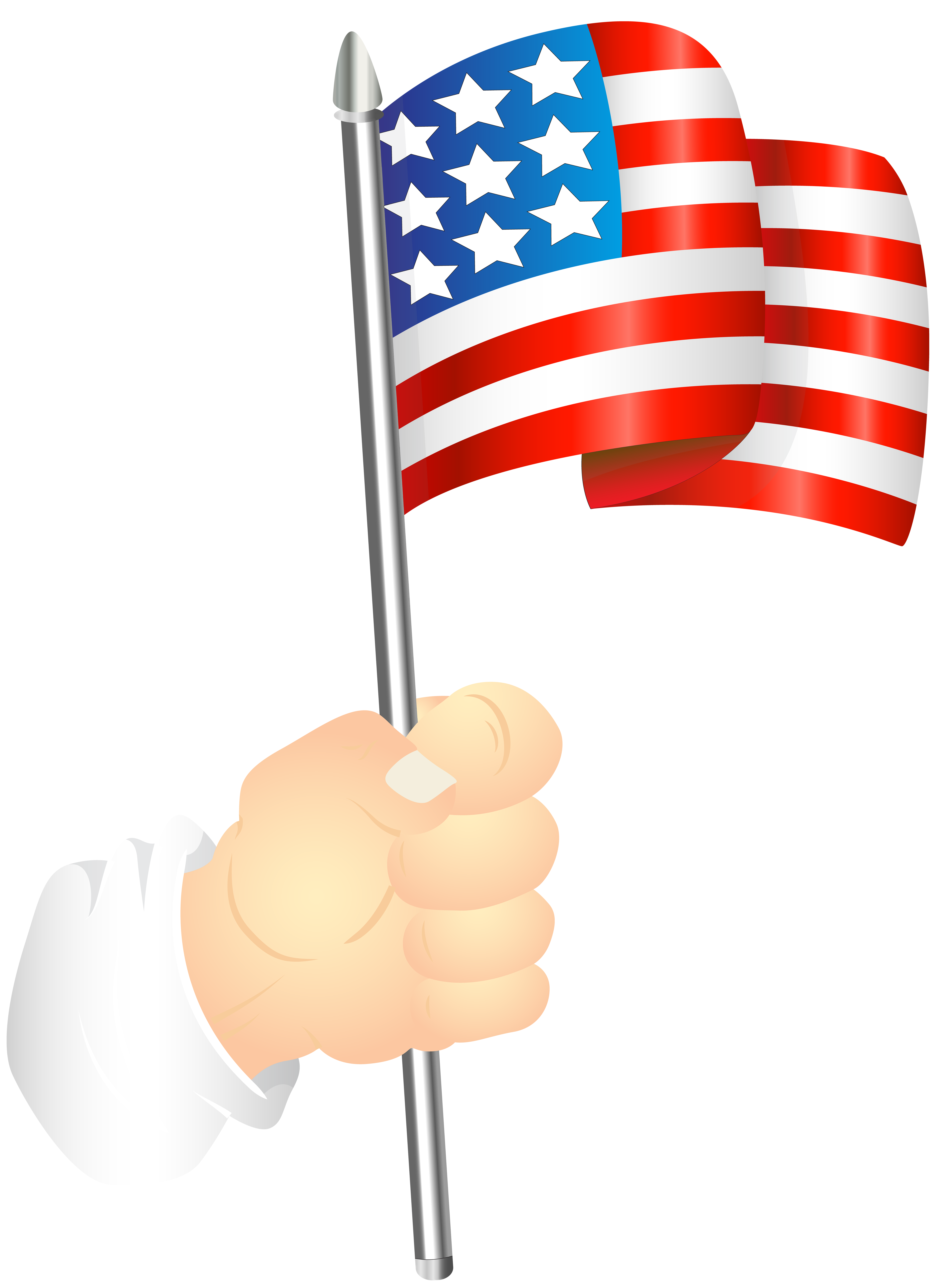 American hand clipart vector black and white Hand with an American Flag PNG Clip Art Image | Gallery ... vector black and white
