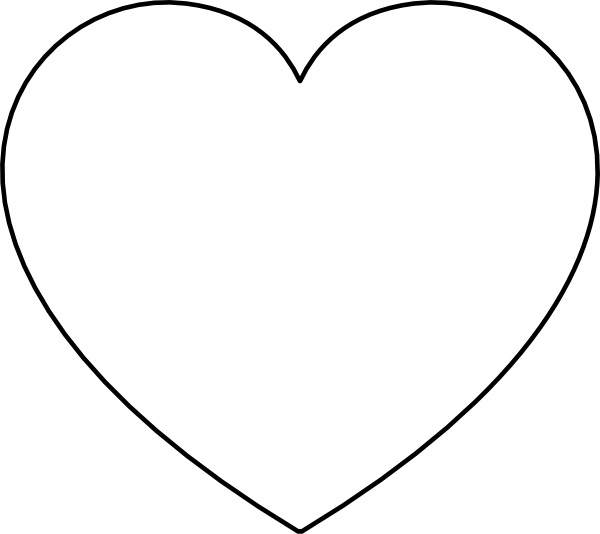 Black & white heart clipart image library stock Heart Silhouette Clip Art at GetDrawings.com | Free for personal use ... image library stock