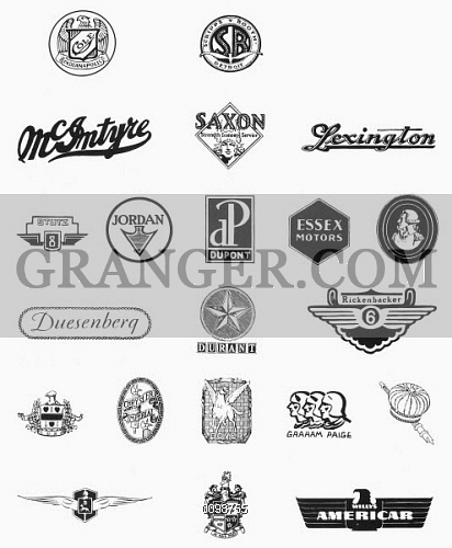 American history 20th century clipart vector freeuse download Image of LOGOS: AUTO COMPANIES. - Logos For Various Early 20th ... vector freeuse download
