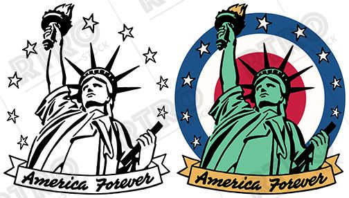American icon clipart clip art transparent library A patriotic image of the American icon the Statue of Liberty with a ... clip art transparent library