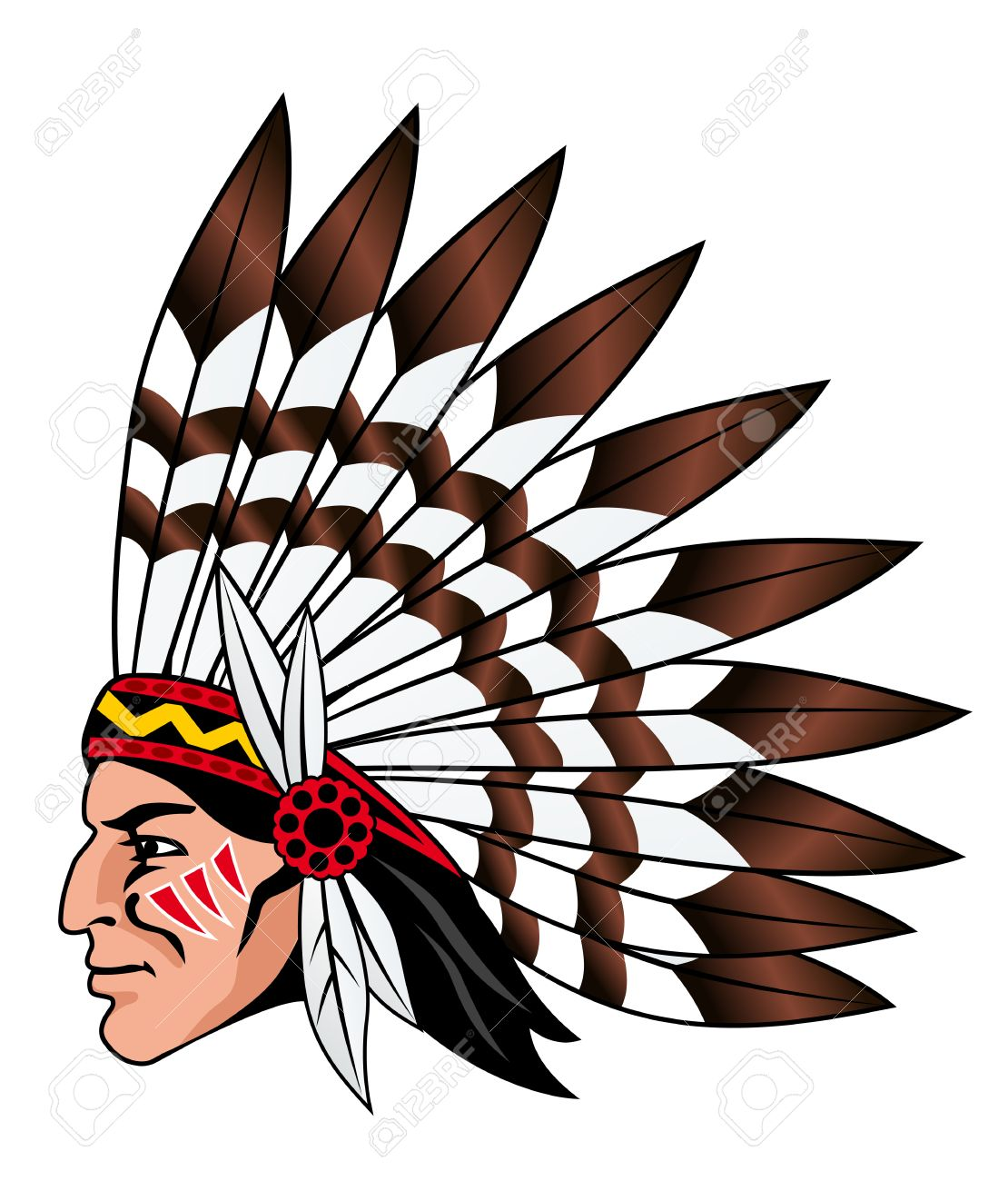 Native american chief clipart svg transparent Native american indian chief head clip art image clipartix - Clipartix svg transparent