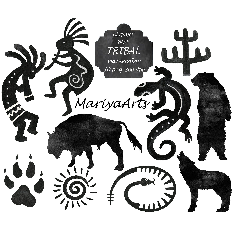 Native american clipart symbols vector download Tribal Native Americans Indian Ethnic Symbols Clipart, Clip Art ... vector download