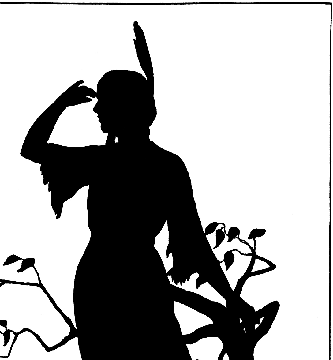 Vintage female silhouette clipart clipart Vintage Native American Girl Image - Silhouette! - The Graphics Fairy clipart