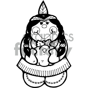 American indian girl black and white clipart jpg free indian clipart - Royalty-Free Images   Graphics Factory jpg free