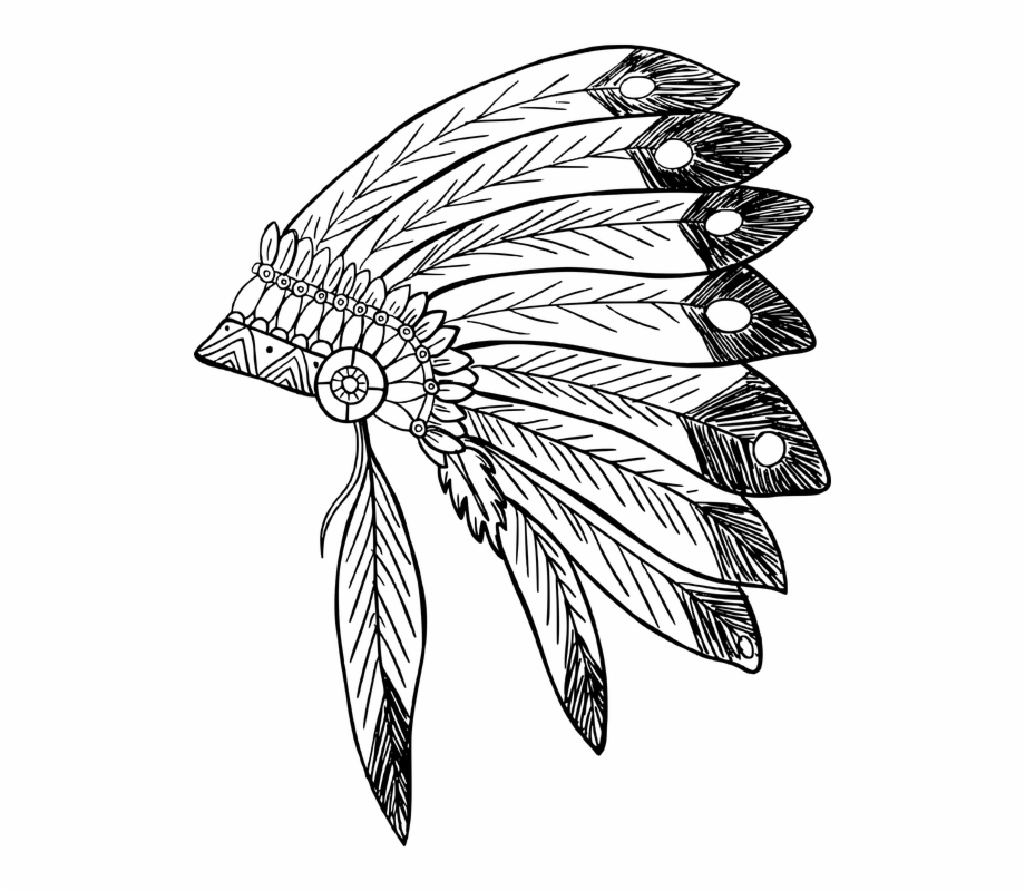 American indian headdress clipart vector freeuse stock feather #feathers #headdress #native #nativeamerican - Native ... vector freeuse stock