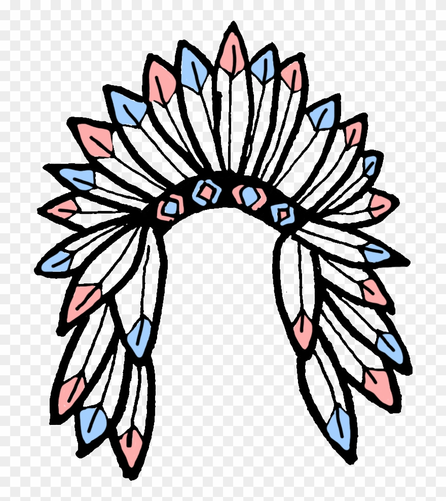 American indian headdress clipart clipart free Native - Native American Headdress Transparent Clipart - Full Size ... clipart free