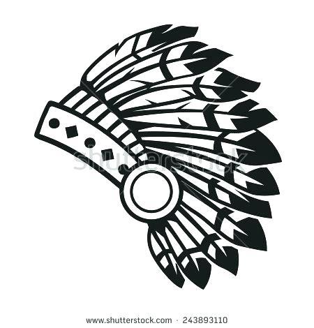 American indian headdress clipart vector transparent stock Indian Headdress Drawing | Free download best Indian Headdress ... vector transparent stock