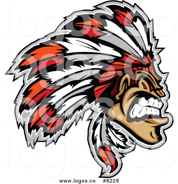 American indian logo clipart image black and white library Royalty Free Clip Art Vector Logo of a Tough Native American Indian ... image black and white library