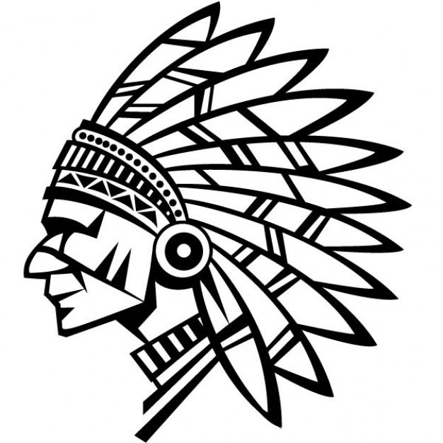 American indian with ear to the ground clipart picture royalty free American indian chief vector illustration | Cartoons and ... picture royalty free
