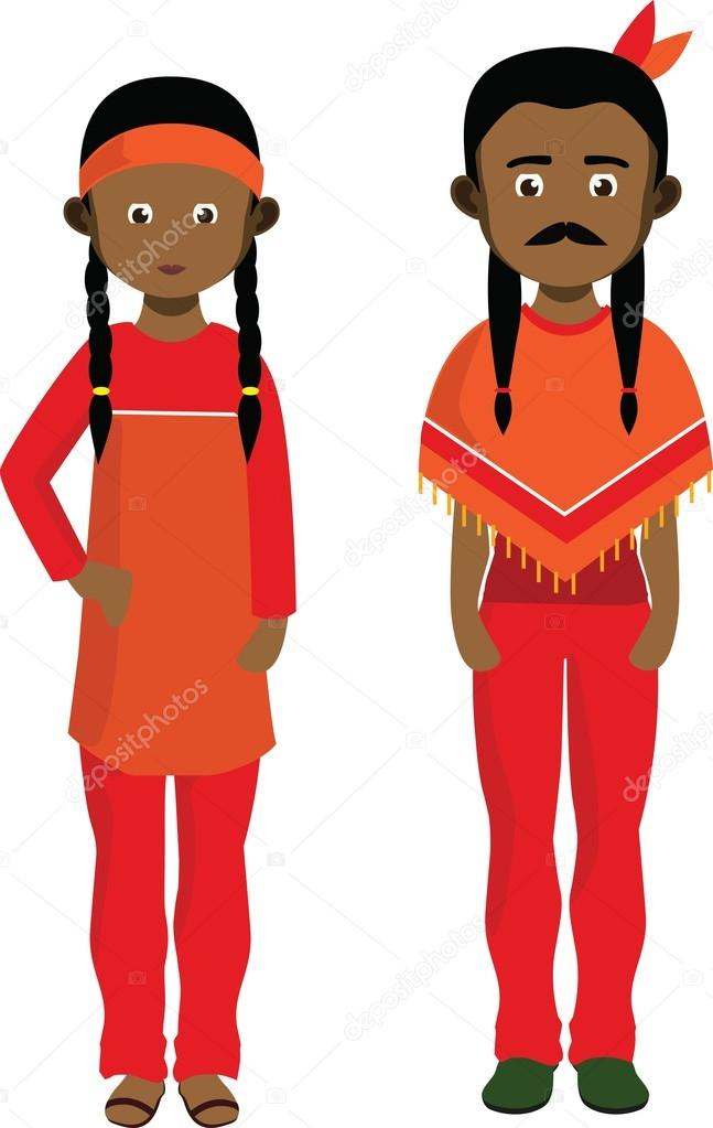 American indian with ear to the ground clipart vector library Native American Girl Clipart | Free download best Native American ... vector library