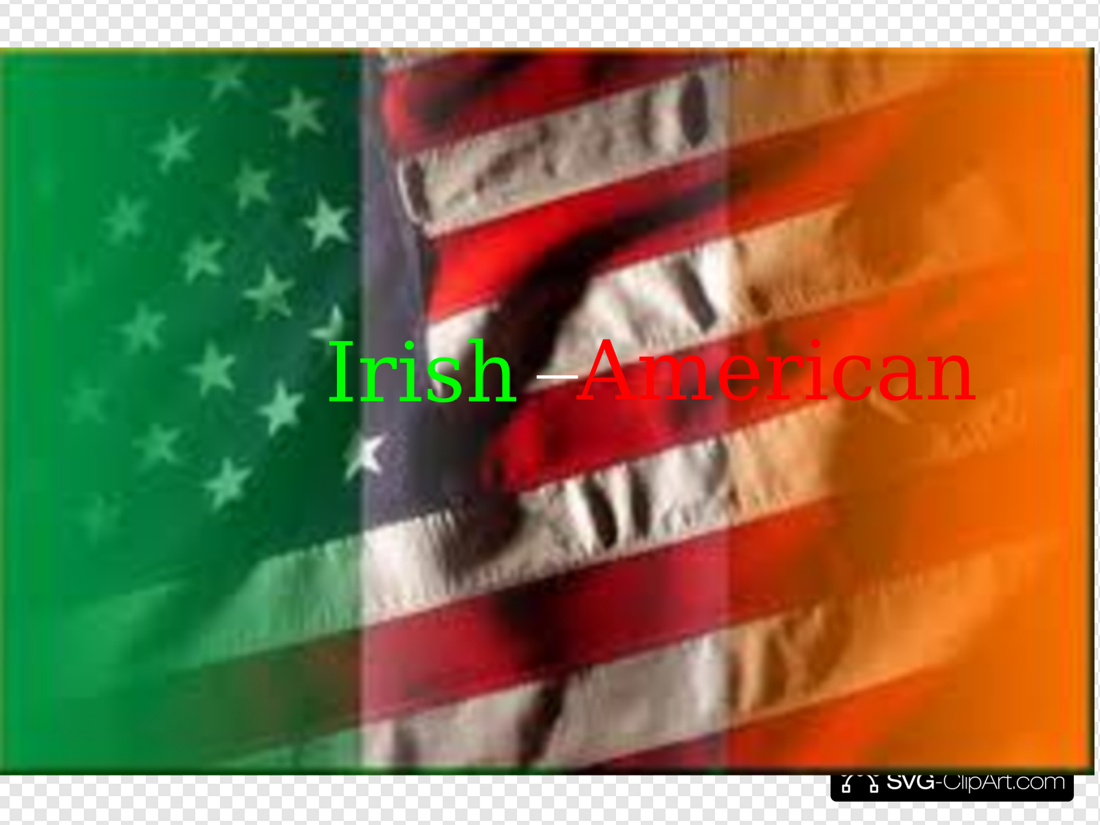 American irish clipart graphic royalty free stock Irish American Flag With Title Clip art, Icon and SVG - SVG Clipart graphic royalty free stock