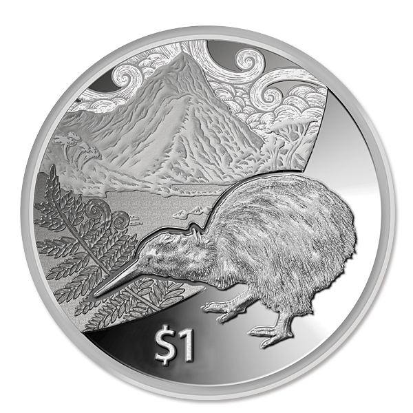 Clipart canadian money image black and white 2014 Kiwi Treasures Silver Proof Coin | New Zealand Post Coins image black and white