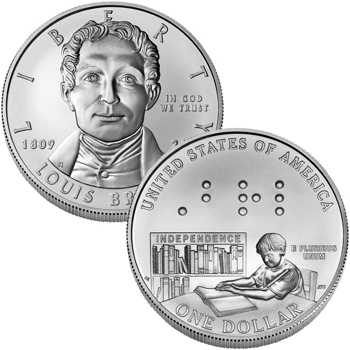 American money coins clipart svg transparent 2009-P Louis Braille Bicentennial Uncirculated Silver Dollar info ... svg transparent