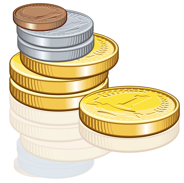 Money is due clipart clipart free Coins money PNG image, coins PNG pictures download clipart free