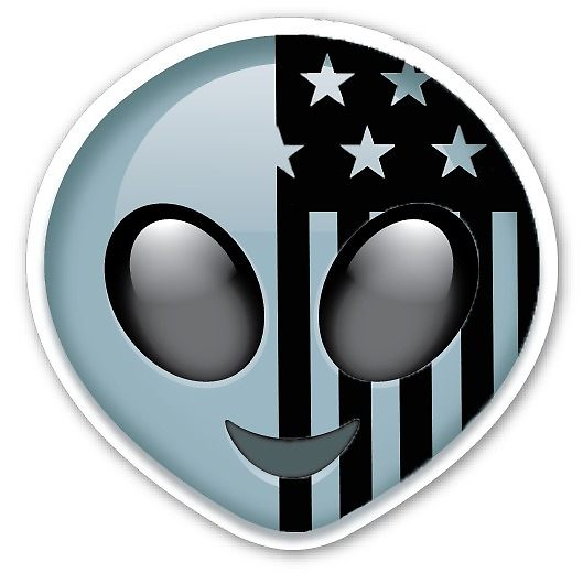 American psycho emoji clipart graphic American Beauty/American Psycho Alien Emoji Logo\
